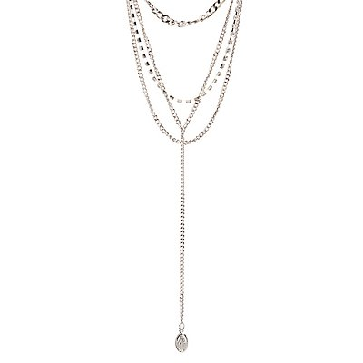Crystal & Chain Layered Necklace