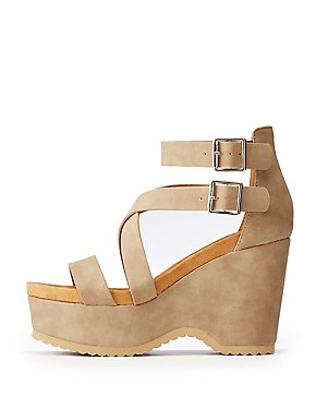 Crisscross Wedge Platform Sandals