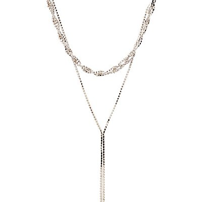 Crystal Twisted Layered Necklace