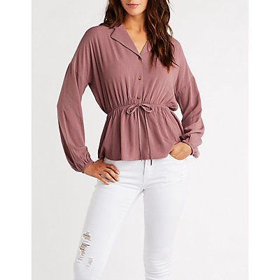 Blouses Button Ups Shirts For Women Charlotte Russe