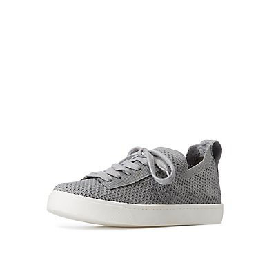 Knit Lace Up Sneakers