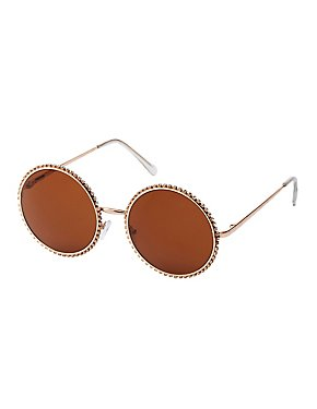 Crystal Round Sunglasses