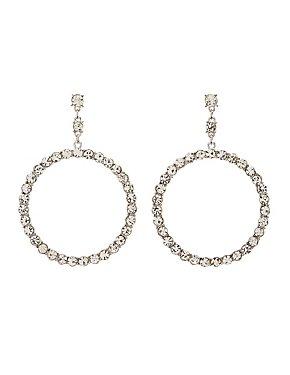 Crystal Oval Drop Earrings