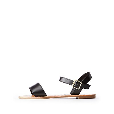 Metal Tip Ankle Strap Sandals