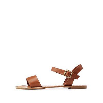 Metal Tip Ankle Strap Sandals