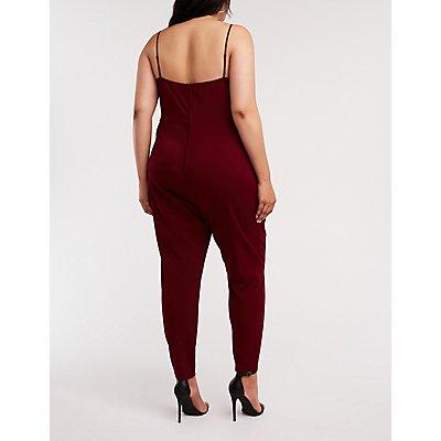 Plus Size Lace Inset Jumpsuit