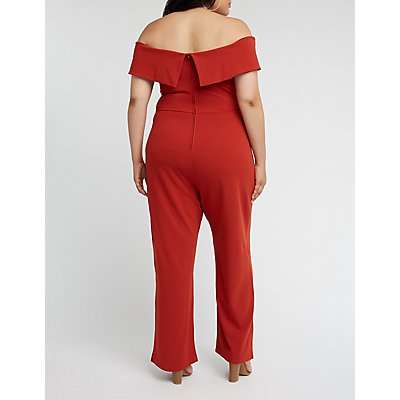 Plus Size Off The Shoulder Jumpsuit
