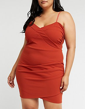 Plus Size Sweetheart Asymmetrical Dress
