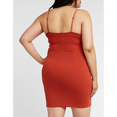 Plus Size Sweetheart Asymmetrical Dress