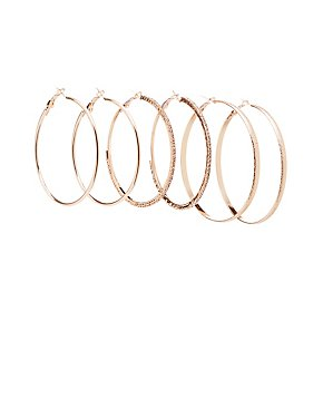 Hoop Earrings - 3 Pack