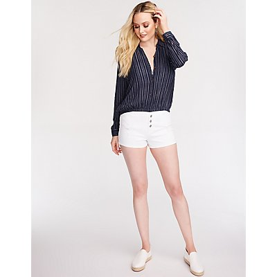 Stripe Button Up Blouse