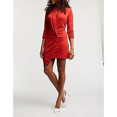 Asymmetrical Longline Blazer Dress