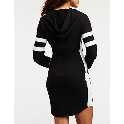 Hooded Varsity Dress