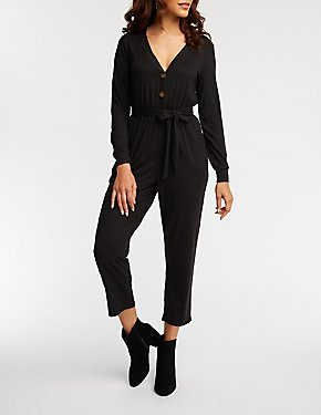 Henley Knit Jumpsuit