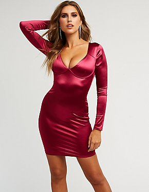 Satin Underwire Bodycon Dress