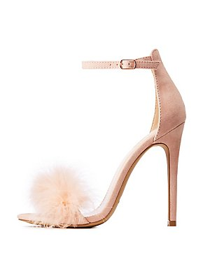 Faux Fur Toe Strap Sandals
