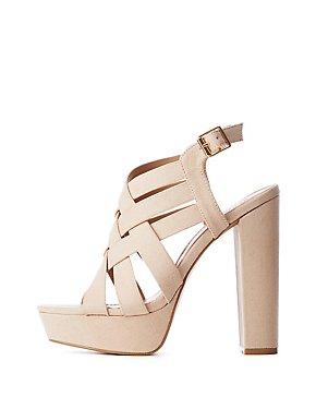 Crisscross Ankle Strap Platform Sandals