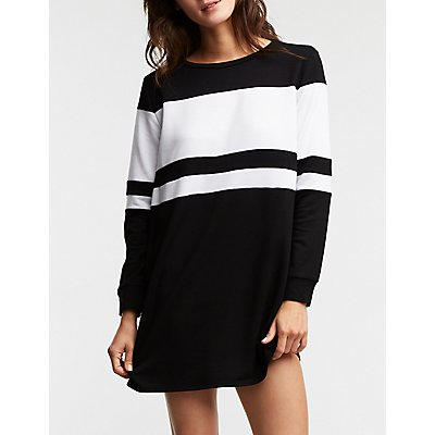 Engendered Striped Sweatshirt Dress