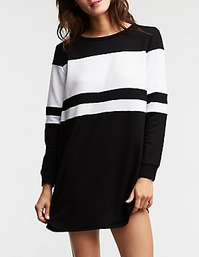 Engendered Striped Sweatshirt Dress