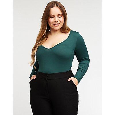 Plus Size Bodysuits Lace Black White Charlotte Russe