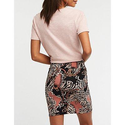 Status Print Mini Skirt