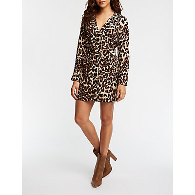 Leopard Button Up Shirt Dress