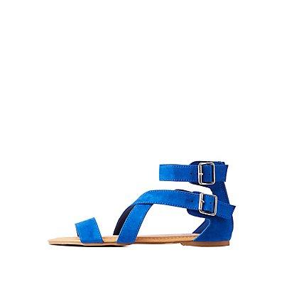 Crisscross Ankle Strap Sandals