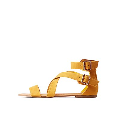 Crisscross Ankle Strap Sandals
