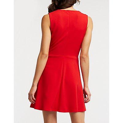 Front Twist Skater Dress