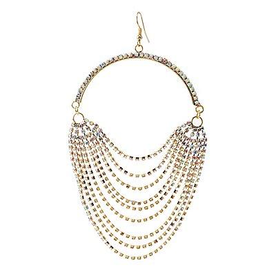 Layered Crystal Drop Earrings