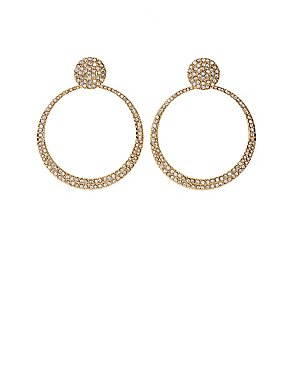 Crystal Hoop Drop Earrings