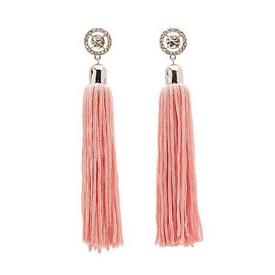 Crystal Tassel Drop Earrings