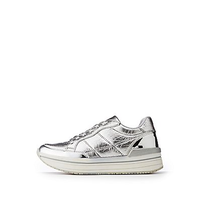 Qupid Chunky Lace Up Sneakers