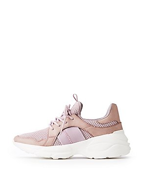 Qupid Lace Up Chunky Sneakers
