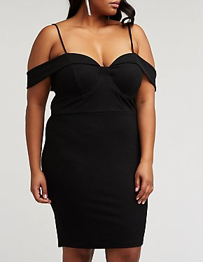 Plus Size Wired Bust Bodycon Dress