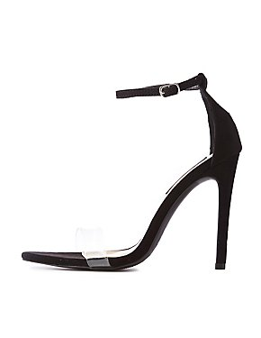 Clear Ankle Strap Stilettos