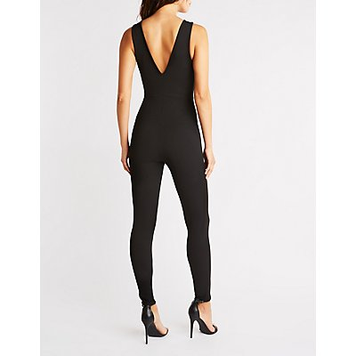 Sleeveless Half Zip Jumpsuit
