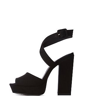 Cupid Peep Toe Ankle Strap Sandals