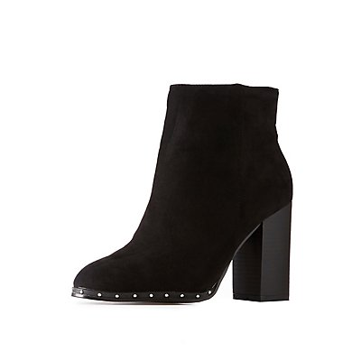 Bamboo Studded Ankle Booties