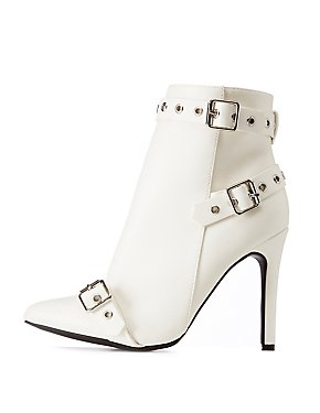 Belted Stiletto Ankle Booties