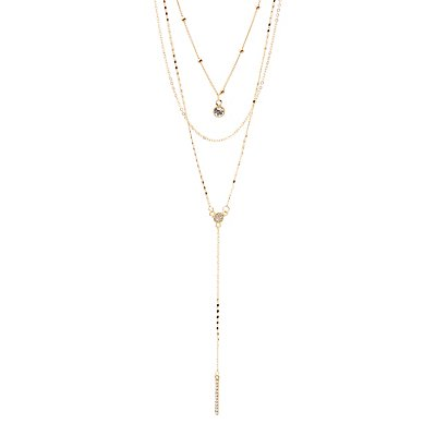 Crystal Pendant Layered Necklace