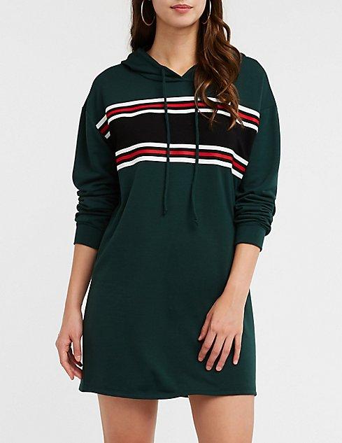 31bbc1f607cd Sporty Striped Sweatshirt Dress