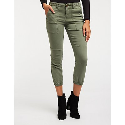 Mid Rise Jogger Jeans
