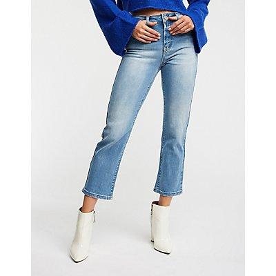 Straight Leg Crop Jeans