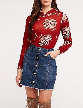 Floral Hoodie Sweatshirt