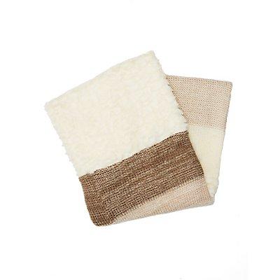 Faux Fur & Knit Infinity Scarf