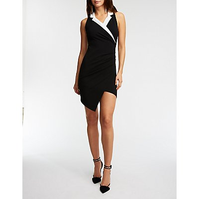 Tuxedo Bodycon Dress