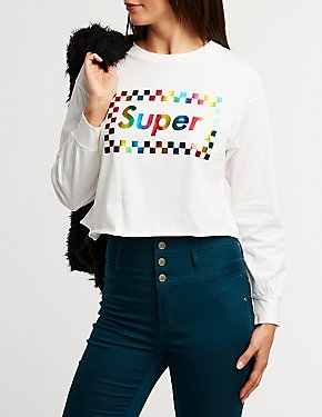 Super Graphic Cropped Tee