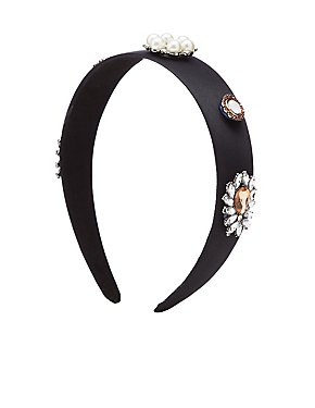 Embellished Satin Headband