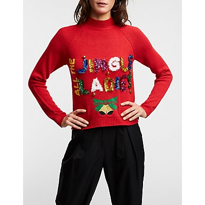 Jingle Ladies Pullover Sweater